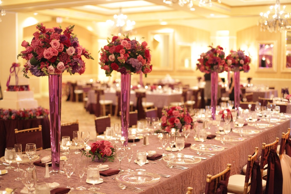 Elegant Purple Ballroom Wedding Every Last Detail