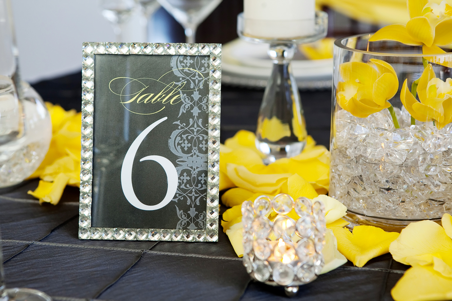 Modern Yellow Amp Slate Wedding Inspiration Every Last Detail