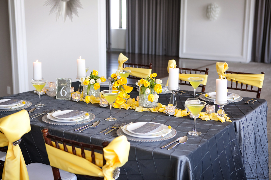 wedding ideas yellow and gray modern yellow amp slate wedding inspiration every last detail 28367