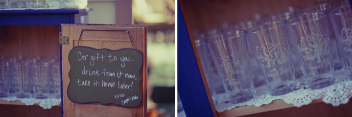 Detail To Love: Customized Tumbler Favors via TheELD.com