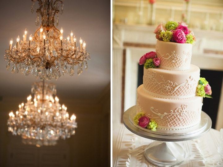 Pink and Green Southern Wedding via TheELD.com