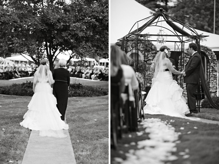 Modern Purple and Black St. Louis Wedding {Part 1} via TheELD.com