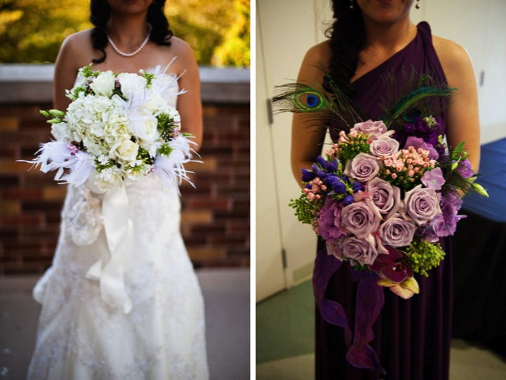 Purple and Blue Seattle Zoo Wedding {Part 1}  via TheELD.com