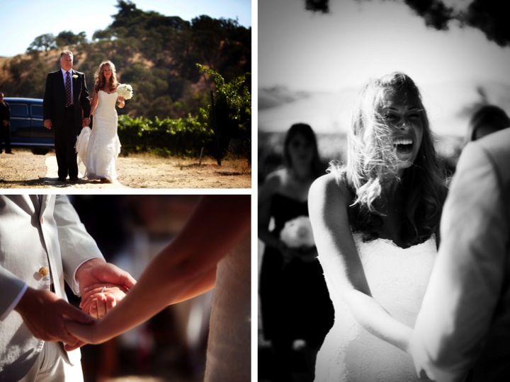 Rustic California Vineyard Wedding via TheELD.com