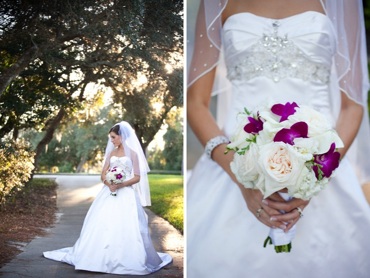 Elegant Green and Purple Wedding via TheELD.com