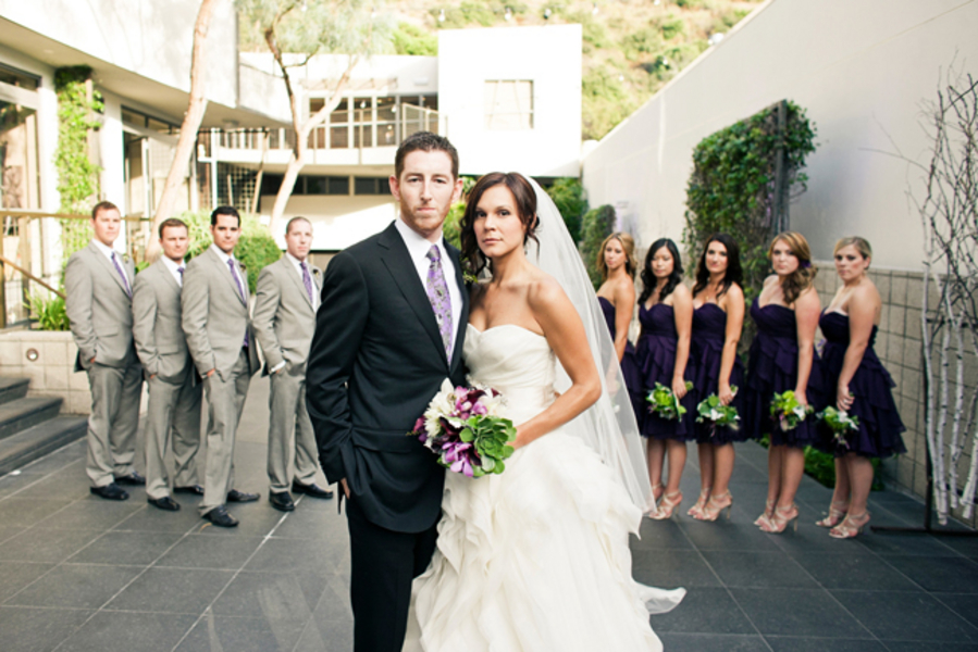 Modern Purple and Green California Wedding via TheELD.com