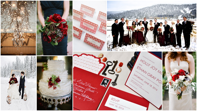 Inspiration Board: Winter Red, Plum, & White via TheELD.com