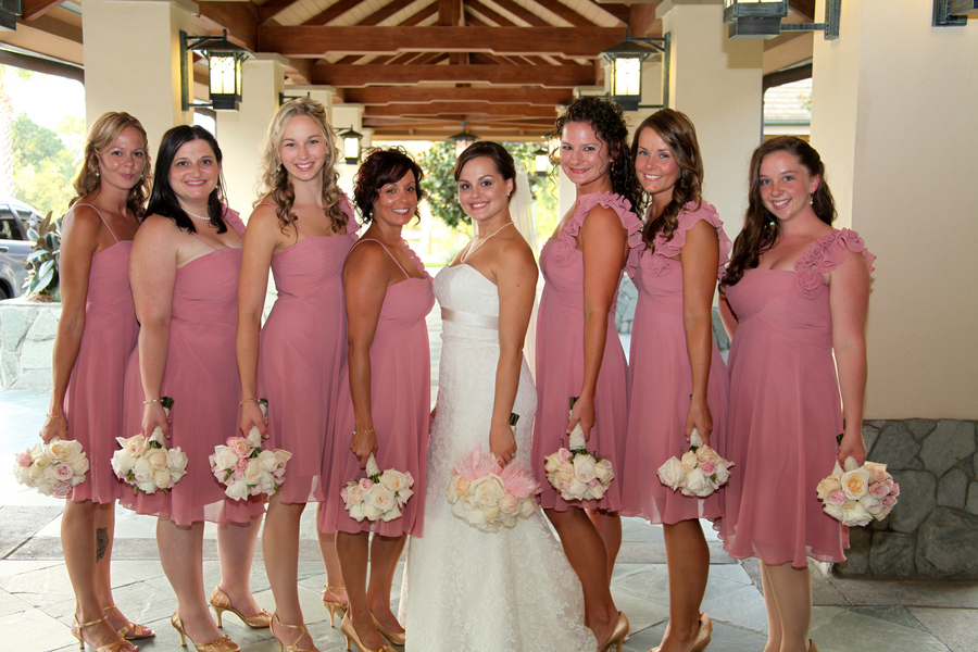 Elegant Pink and Gold Florida Wedding via TheELD.com