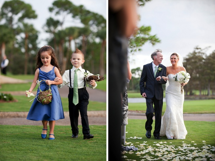 Green & Blue Elegant Florida Wedding  via TheELD.com