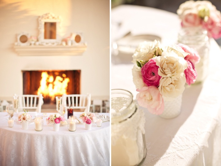 Pink and White Shabby Chic Wedding via TheELD.com