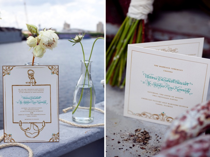 Modern Nautical Wedding Inspiration via TheELD.com