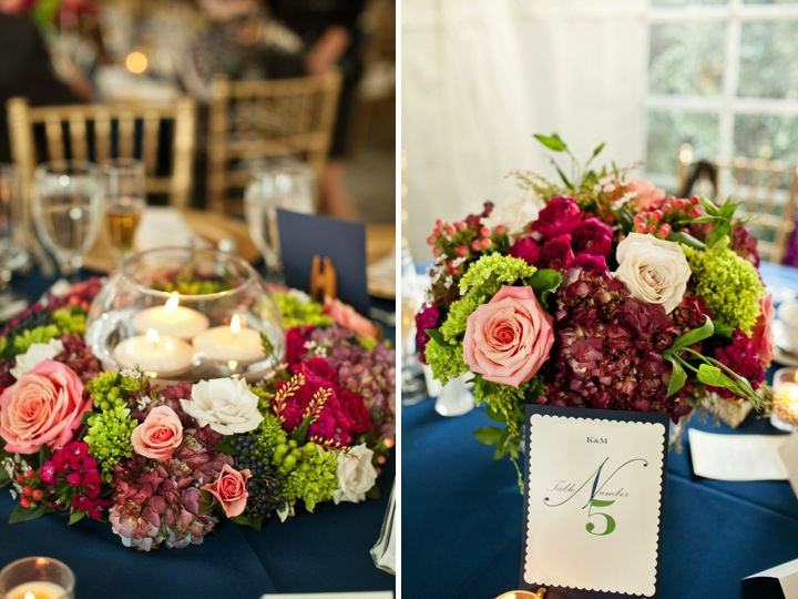 Navy, Pink & Green West Virginia Wedding via TheELD.com