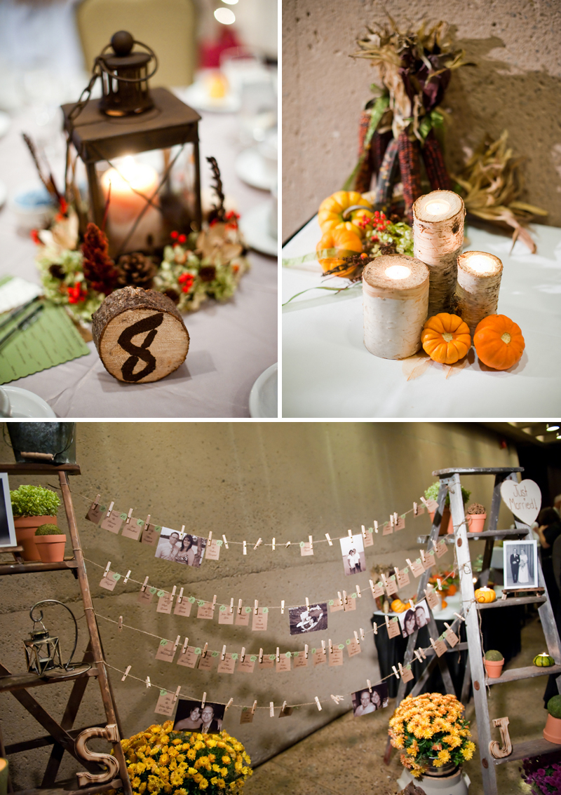 wedding fall decorations rustic diy fall wedding every last detail 9450
