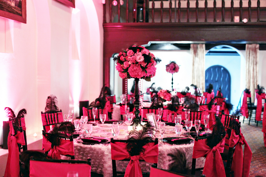 Colorful Pink And Black California Wedding Every Last Detail