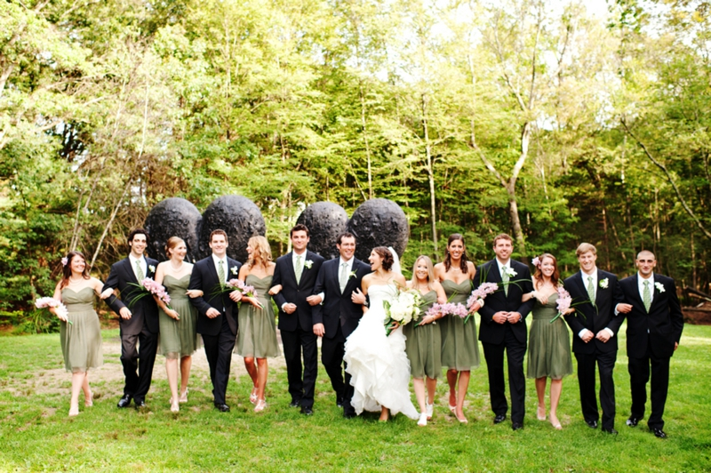 Modern Green Black Eco Friendly Wedding Via Theeld