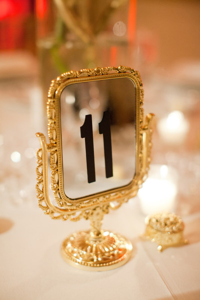 Detail To Love: Vintage Elegant Table Numbers via TheELD.com