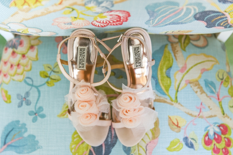 Glamorous Oceanfront Blush and Gold Wedding via TheELD.com
