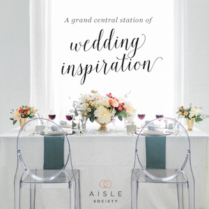 Wedding inspiration at Aisle Society